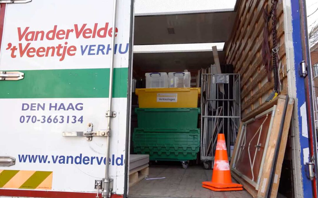 Mondial Movers provides logistic support on election day in the Netherlands